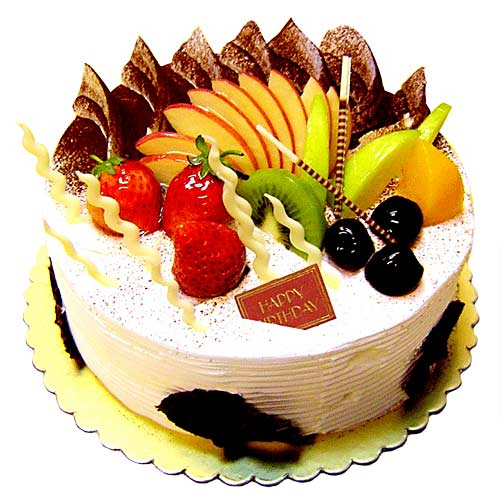 Cake With Fruits Only