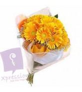 Bunch of yellow Gerberas