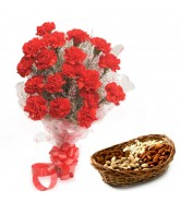 Carnations And Dry Fruits