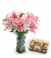 Lilies With Chocolates